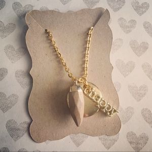 Gold charm short cluster necklace for women